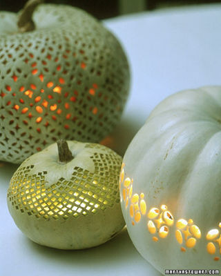 Lace patterned pumpkins- Martha Stewart