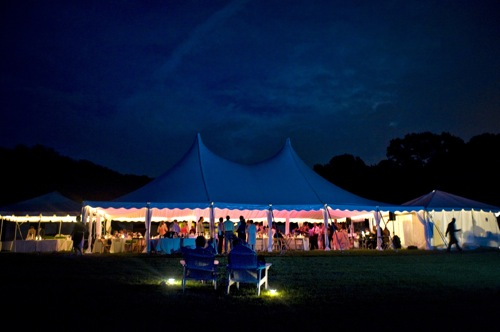 Tent at dusk