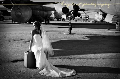 Airfield_airplanes+bride+suitcase+black+and+white_Christie-post+wedding_Hazelnut+Photography+nov08-1
