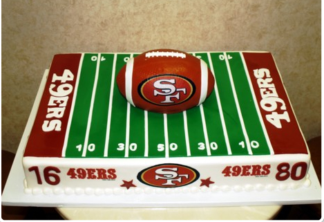 Football Themed Cakes http://hitchedsalon.typepad.com/from-hello-to-hitched/2010/02/football-themed-grooms-cakes.html