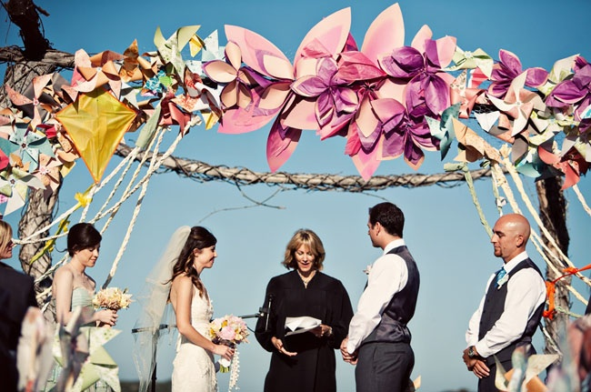 Pinwheel Altar from Green Wedding Shoes