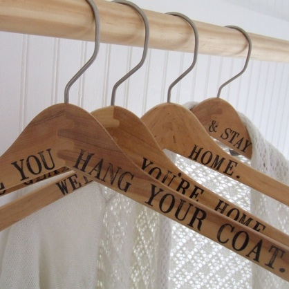 Printed Hangers from Paloma's Nest