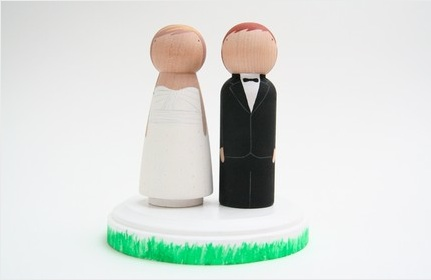 Cake Topper 1 from Goose Grease Shop via Etsy