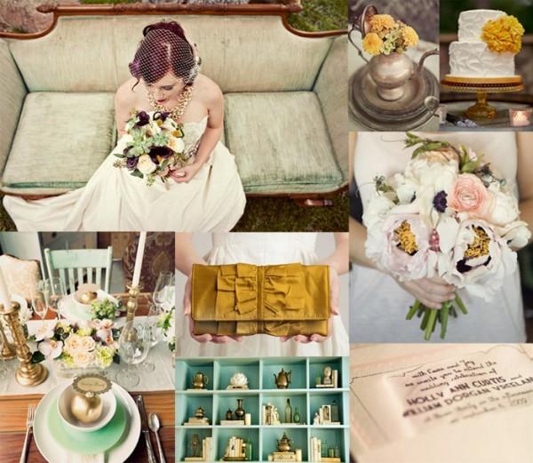 Rustic-Teal-Rose-Marigold-Wedding-Inspiration-Board-600x521