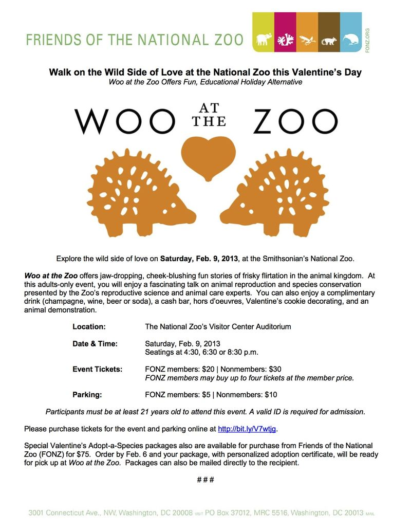 Woo at the Zoo - press release - 2013-01-31 (1) copy