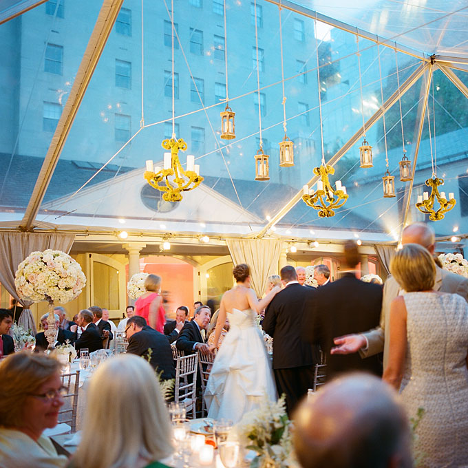Preppy-summer-wedding-washington-dc-chandelier-skylight-wedding-reception-decor