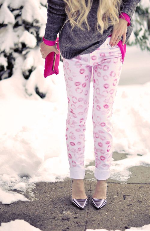 Lip kisses pants diy -erin fetherston  kiss