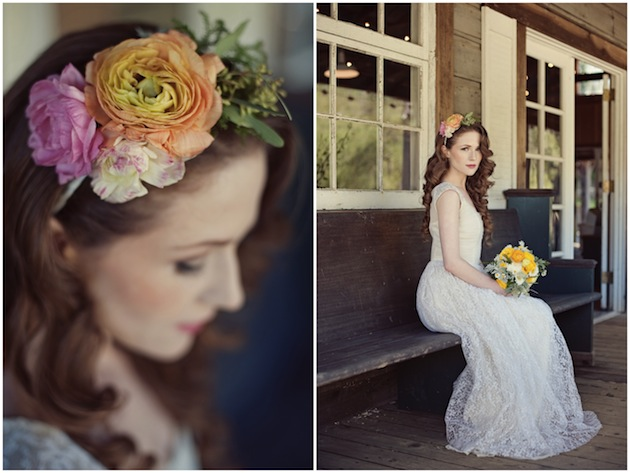 Vintage-Wedding-Dresses-Colourful-Floral-Accessories-Love-Life-Studios-0